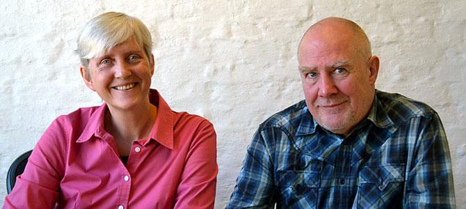 Lise (norsk morsmål) og William (engelsk morsmål) i Bonafide.